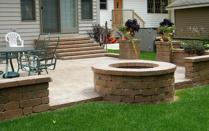 Unilock Paver Patio & Firepit
